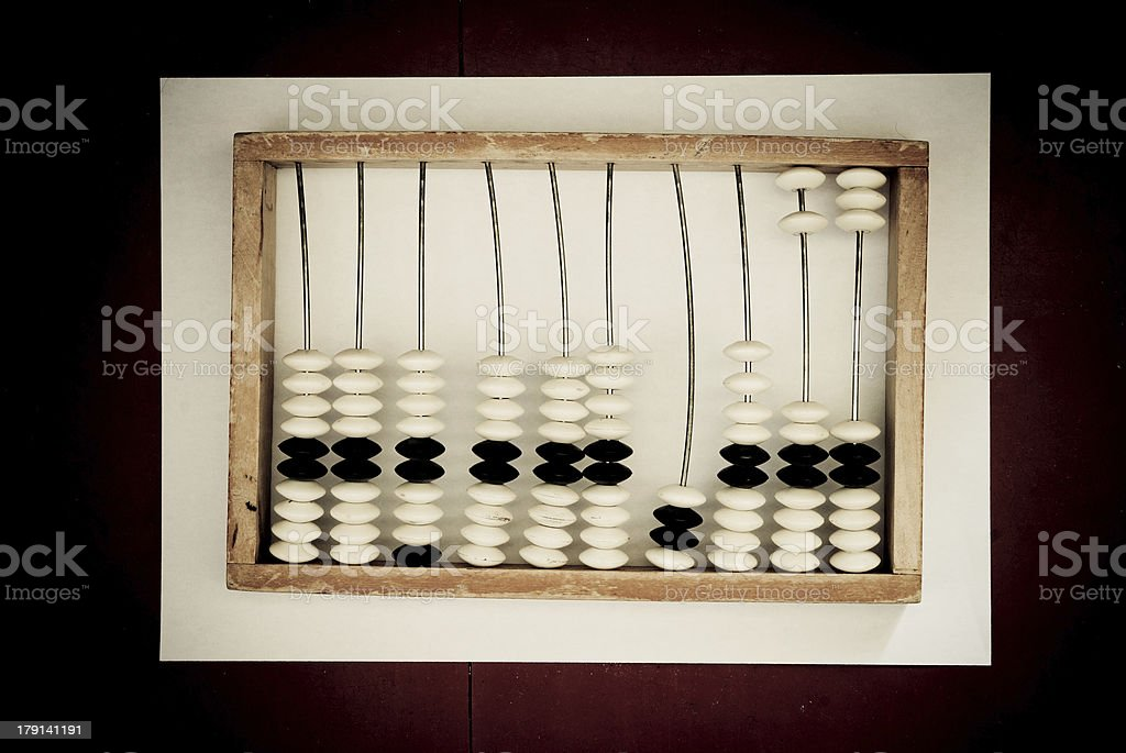 old abacus royalty-free stock photo