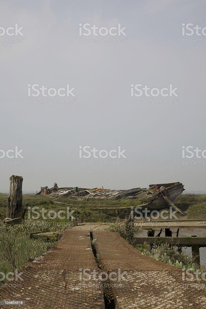 Old Abandoned Boat stock photo