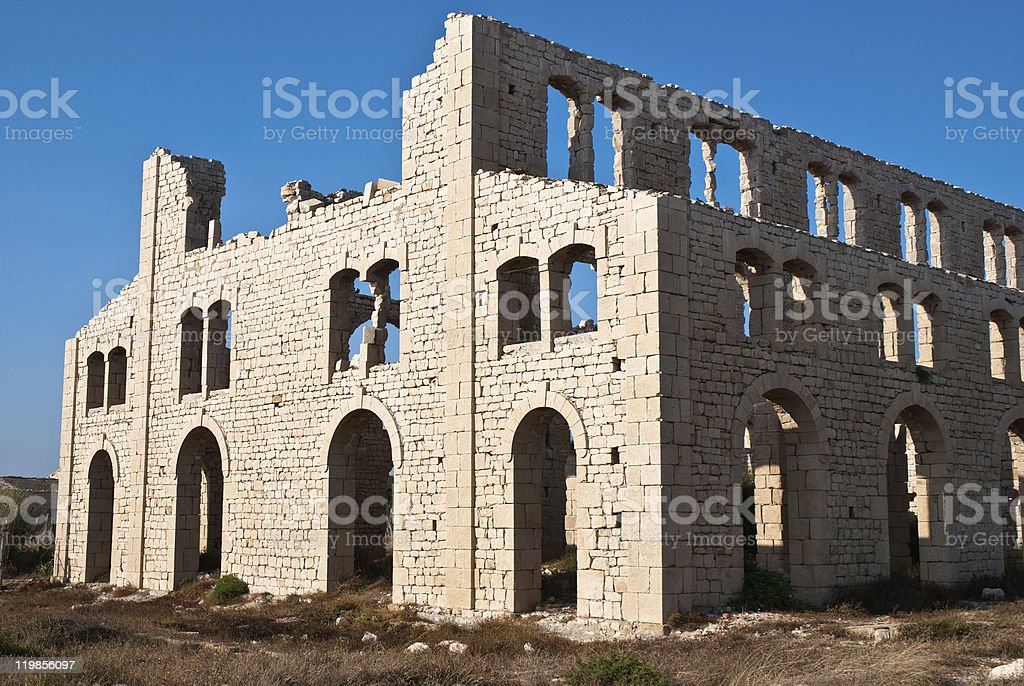 Old abandoned brick factory in Sicily royalty-free stock photo