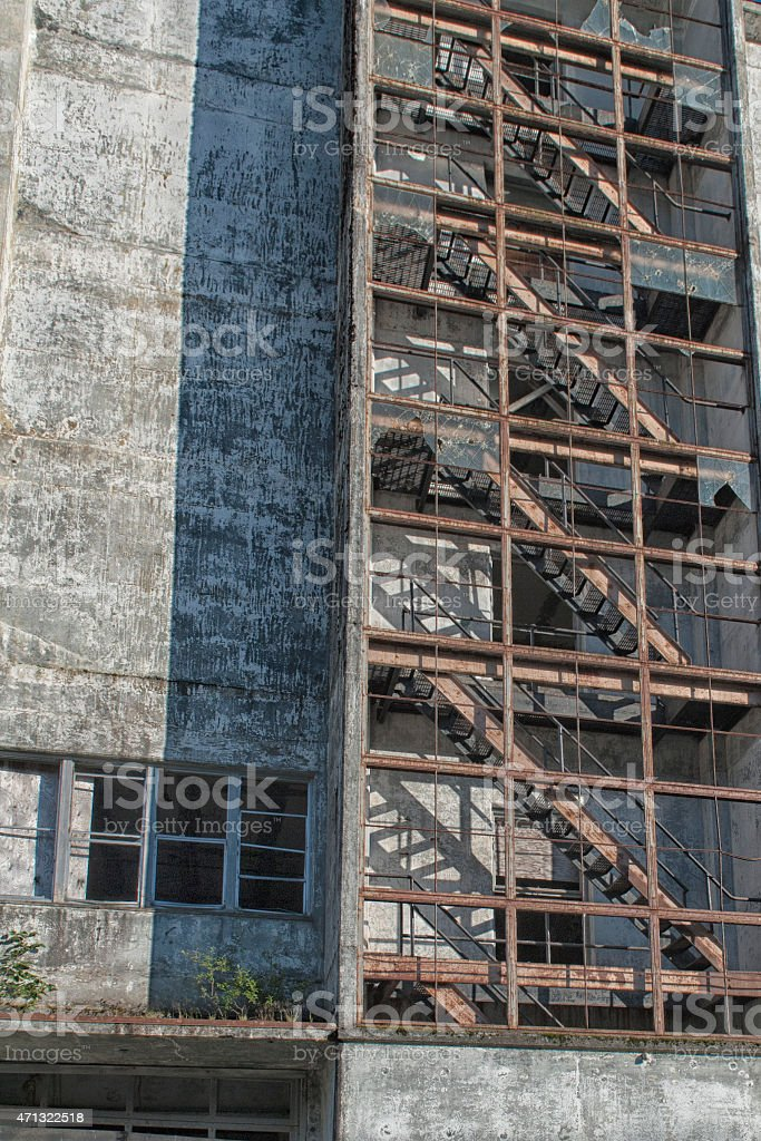 Old abandoned building in whittier stock photo