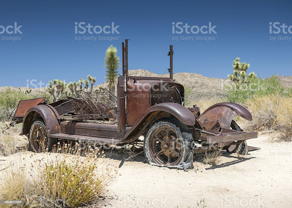 Old abandoned Car Wreck royalty-free stock photo