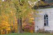 Old Abandoned Church in Autumn