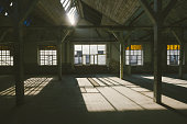 Old, abandoned factory warehouse