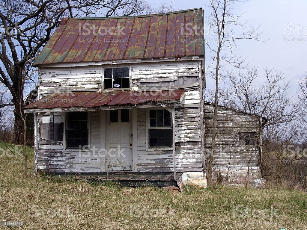 Old Abandoned Farm Home stock photo