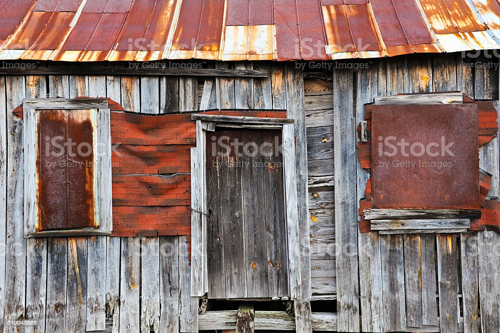 Old Abandoned Farm House stock photo