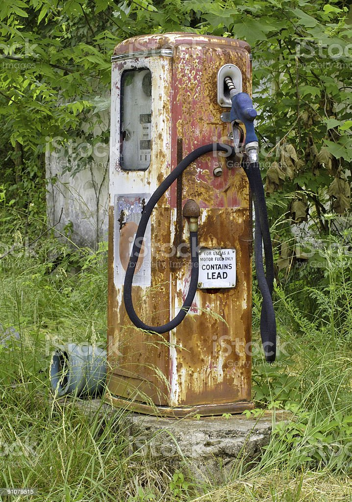old abandoned gas pump in the country royalty-free stock photo