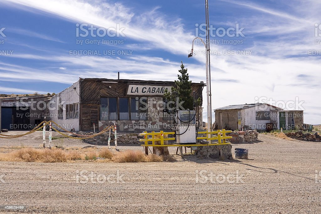 Old abandoned gas station royalty-free stock photo
