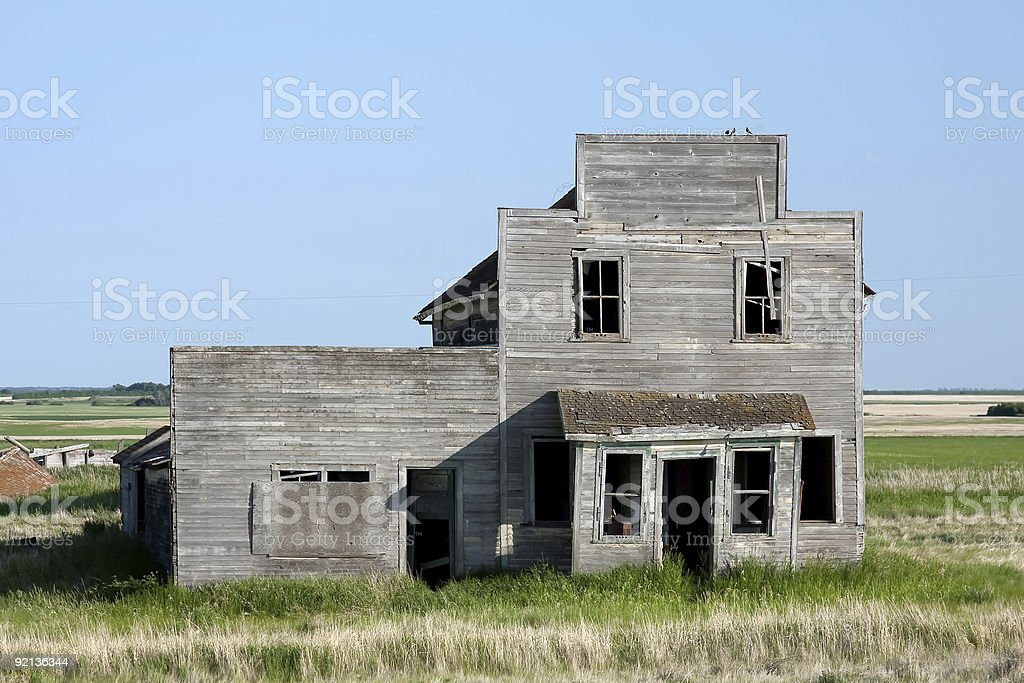 Old Abandoned General Store stock photo