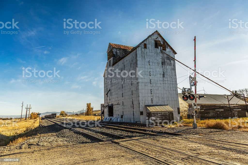 Old Abandoned Grainery stock photo
