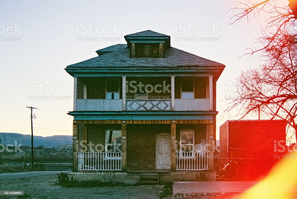 Old Abandoned House 35MM stock photo