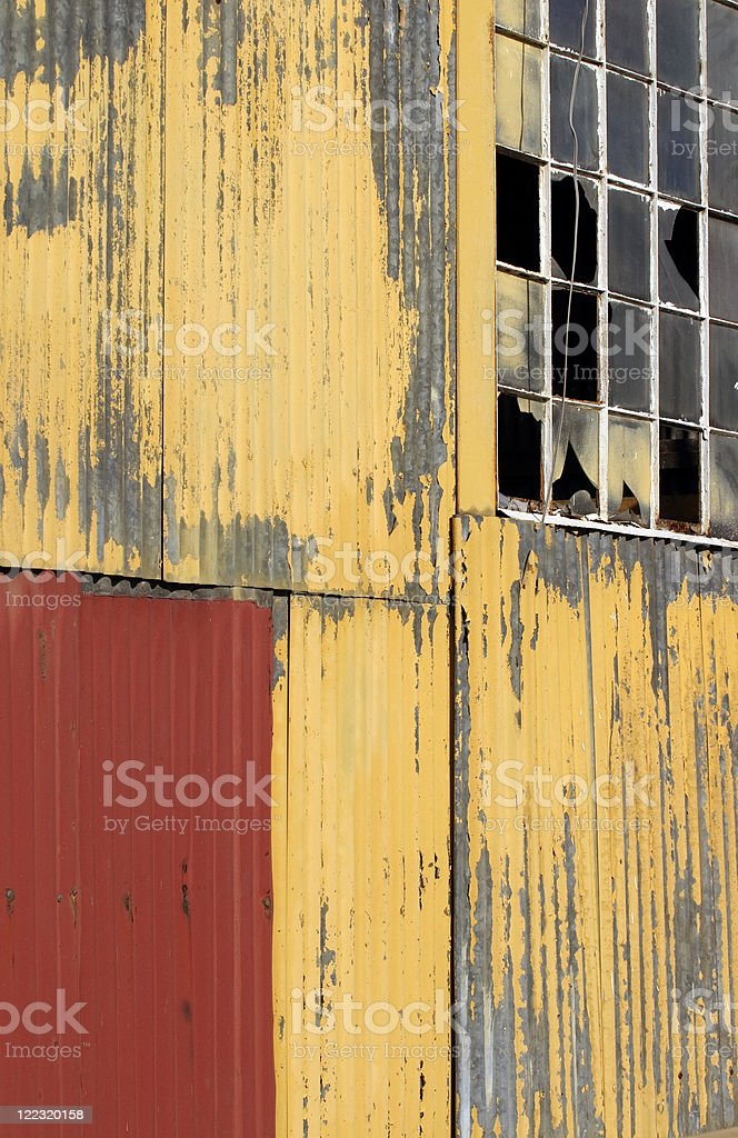 Old abandoned industrial building royalty-free stock photo