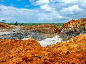 Old abandoned iron ore mine in Liberia