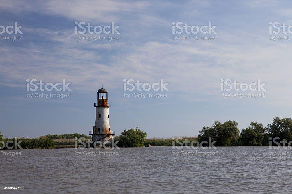 Old abandoned lighthouse stock photo