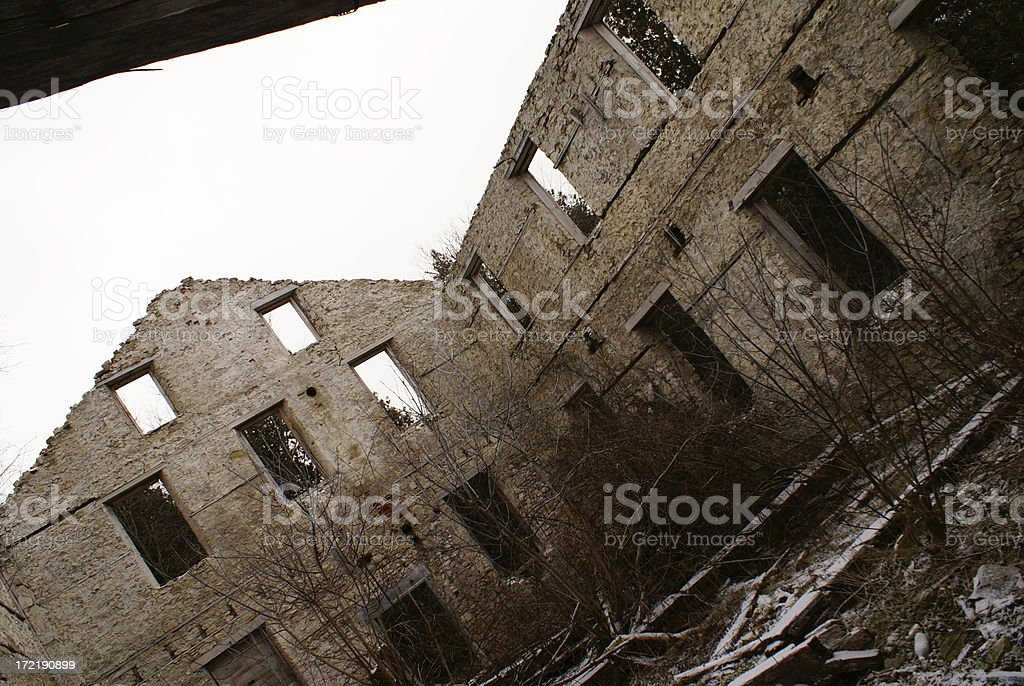 Old Abandoned Mill royalty-free stock photo