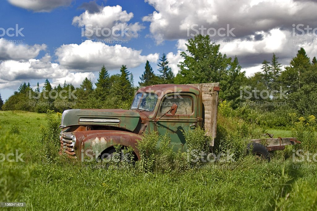 Old Abandoned Pickup Truck stock photo