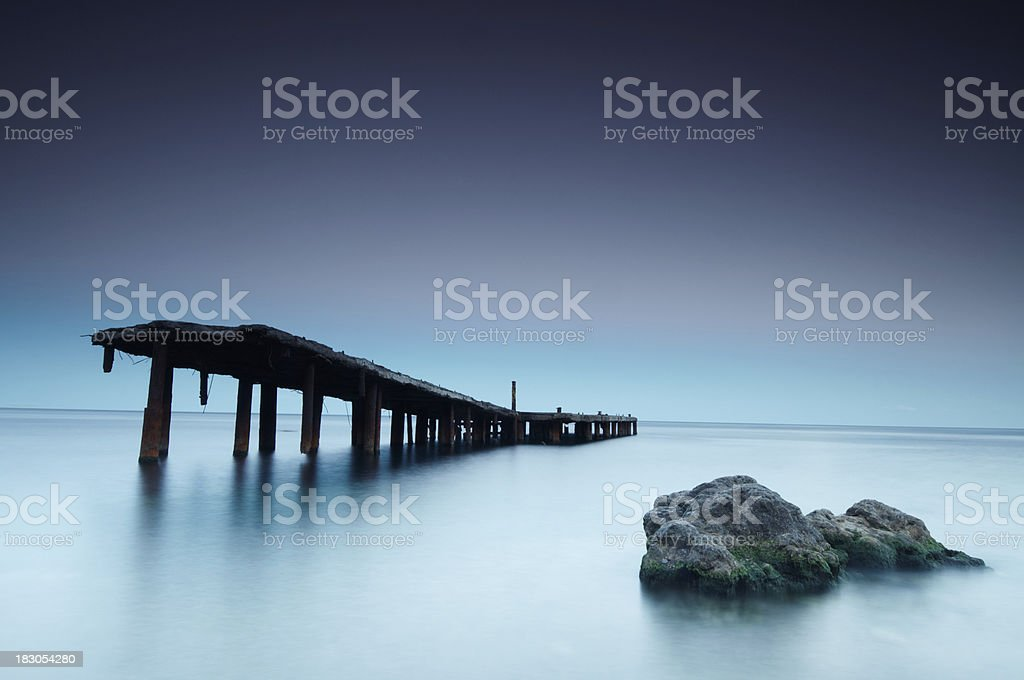 old abandoned pier royalty-free stock photo