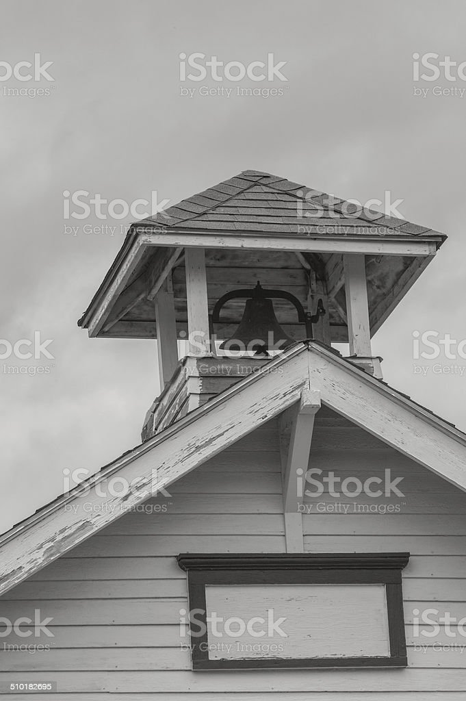 Old Abandoned Schoolhouse stock photo
