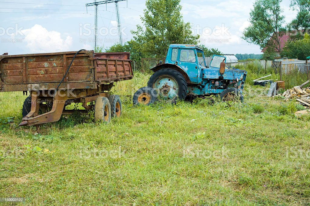Old abandoned tractor royalty-free stock photo