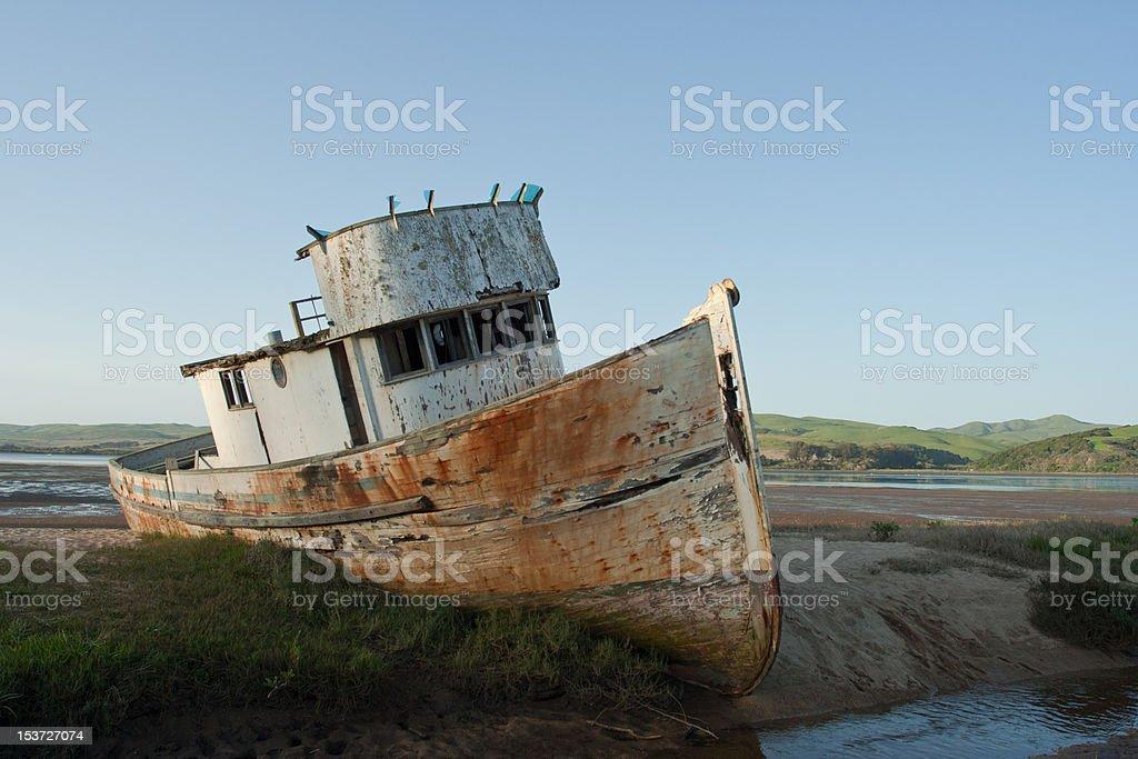 Old Abandoned Tugboat royalty-free stock photo