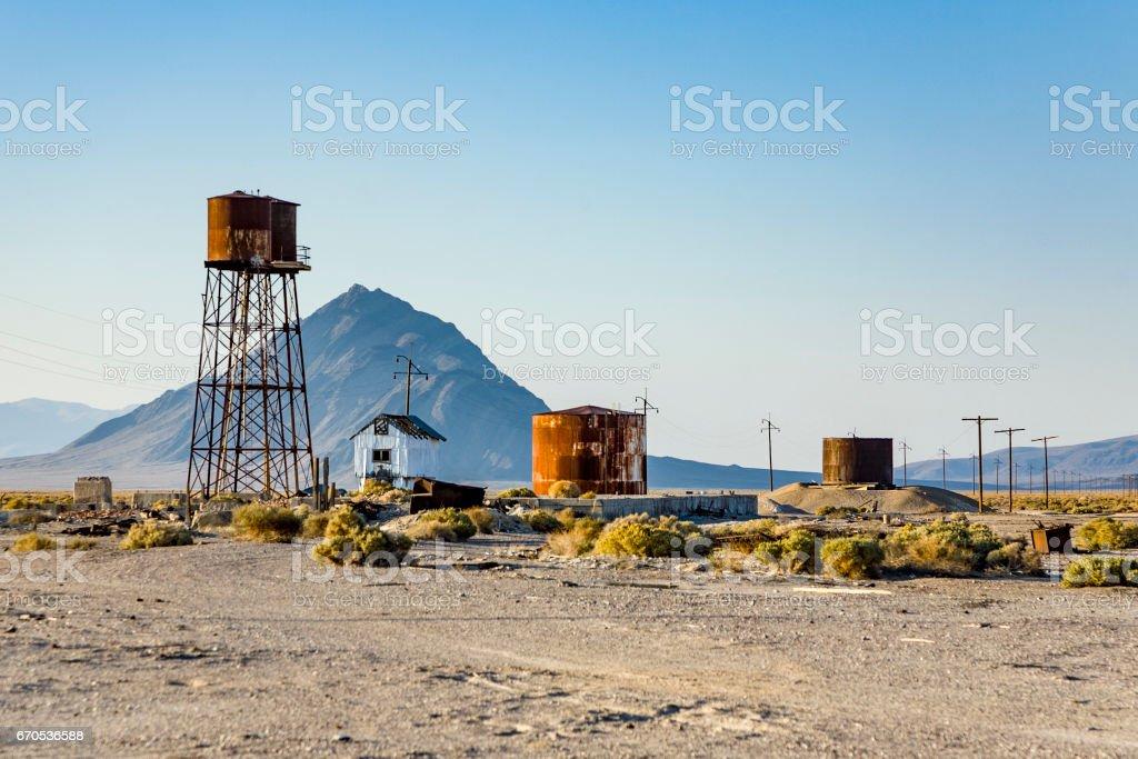 old abandonned Borax  factory stock photo