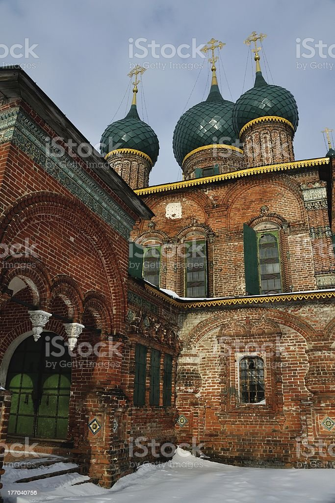 Old Abandonned Russian Church in Winter stock photo