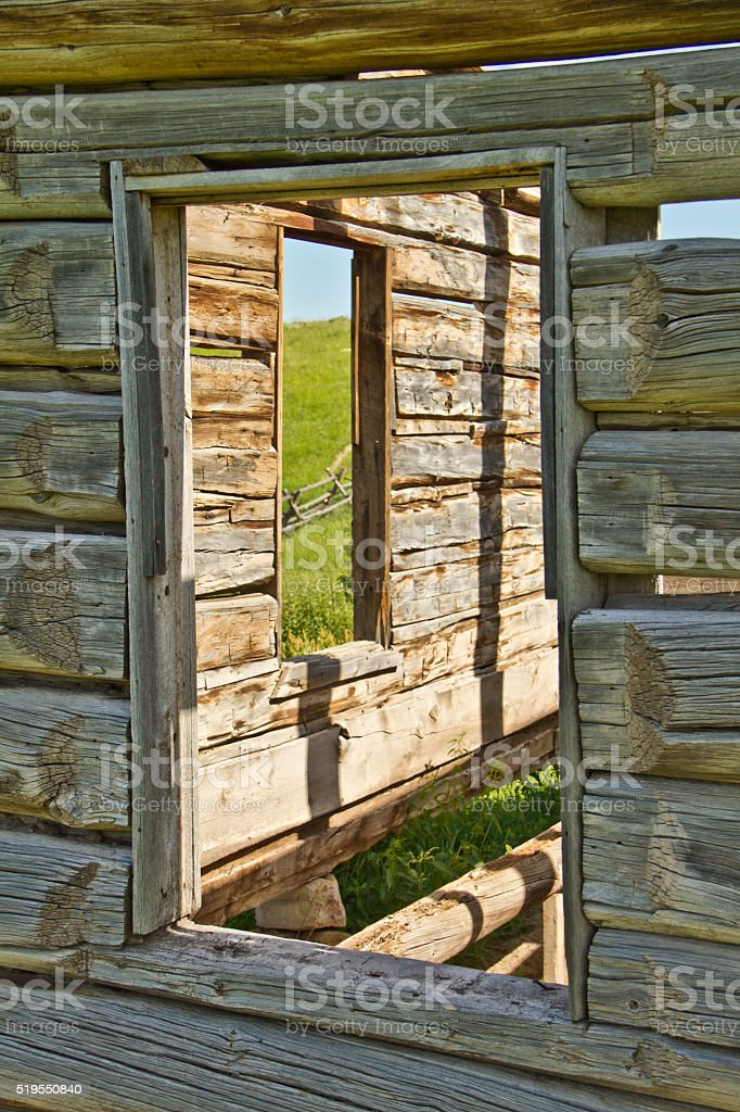 Old Abanonded Historic Homestead stock photo