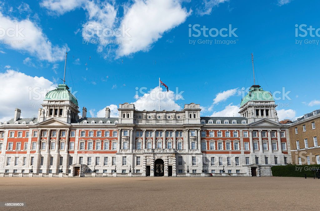Old Admiralty Building in Horse Guards Parace in London royalty-free stock photo