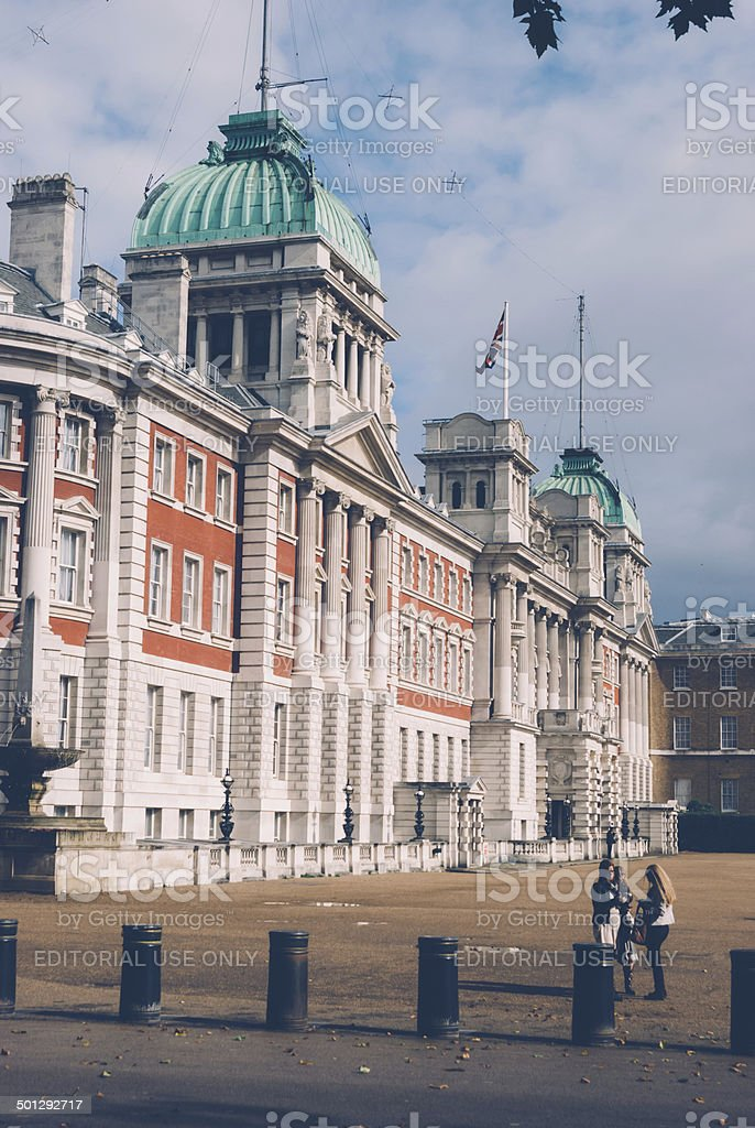 Old Admiralty building in London. stock photo
