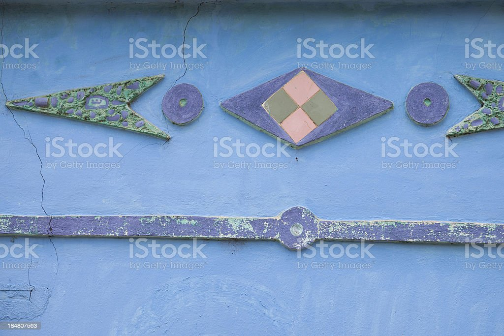 Old adobe wall royalty-free stock photo