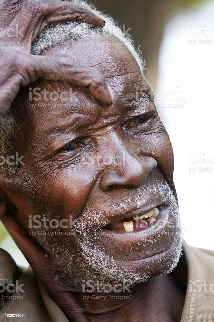 Old African anguish royalty-free stock photo