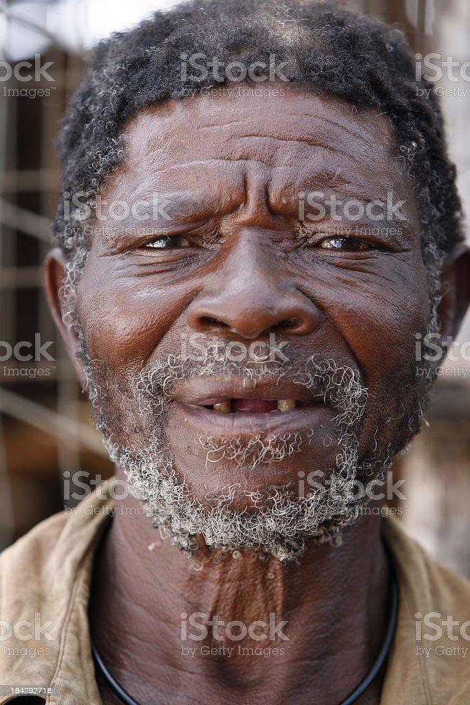 Old African man mugshot royalty-free stock photo