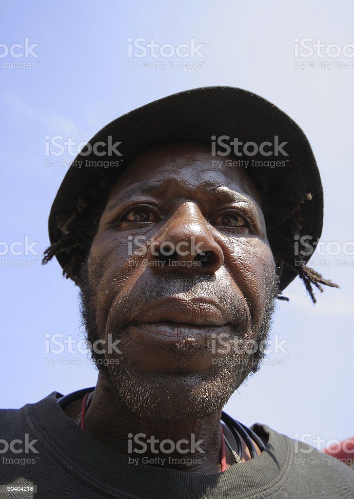 Old African Man Portrait two royalty-free stock photo