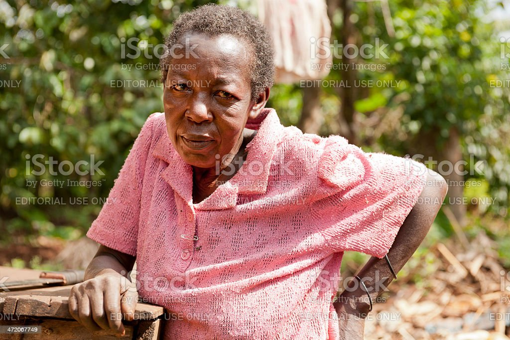 Old african woman stock photo