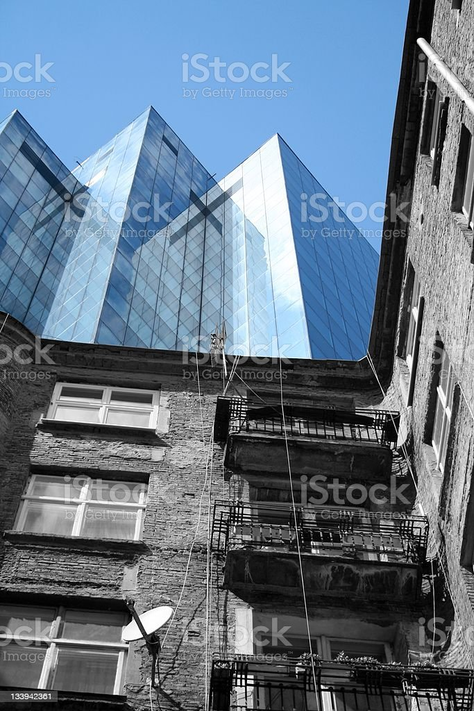 Old against new royalty-free stock photo