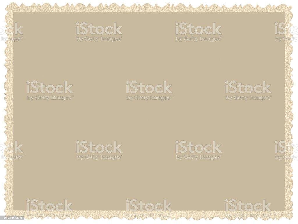 Old aged grunge edge sepia photo, blank empty horizontal background stock photo