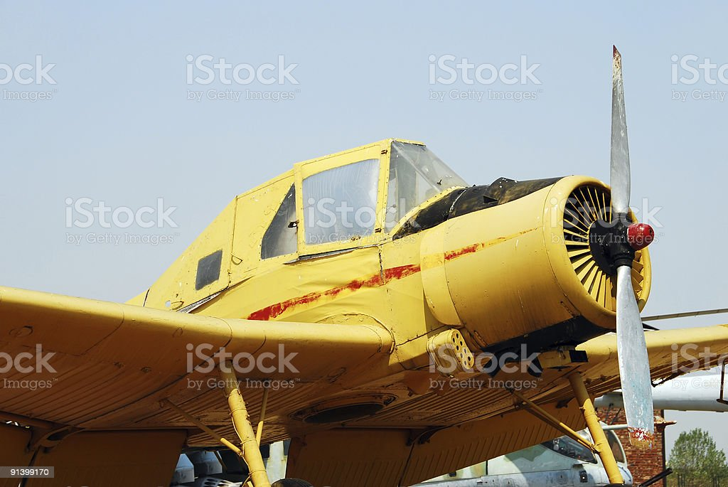 Old agricultural airplane royalty-free stock photo