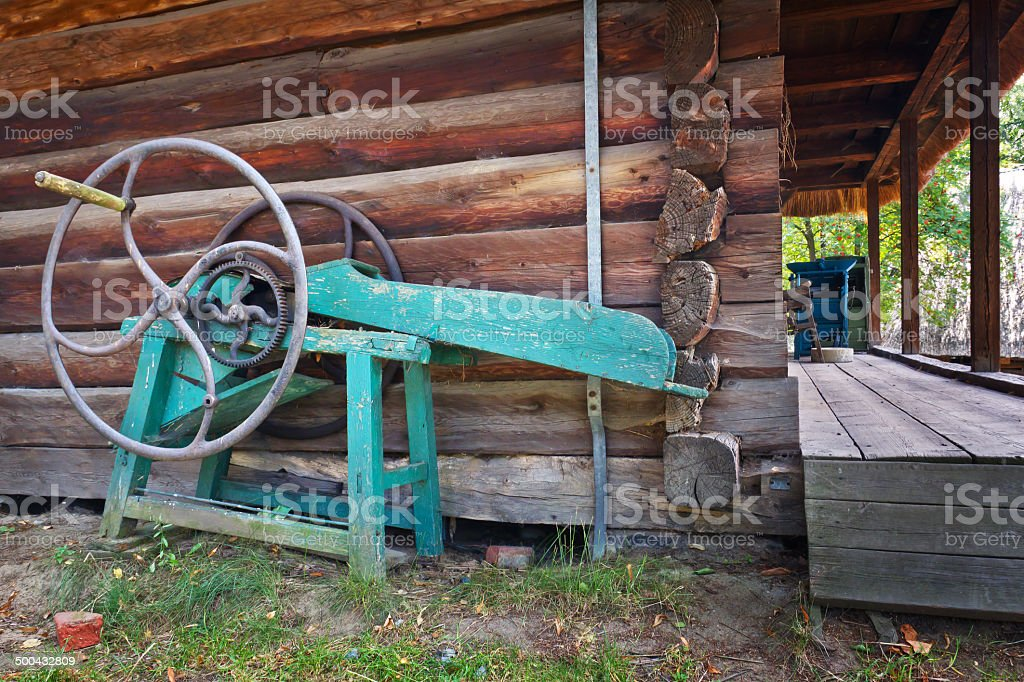 Old agricultural machine royalty-free stock photo