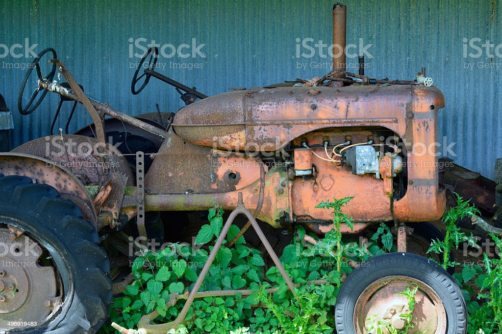 Old Agricultural Tractor royalty-free stock photo