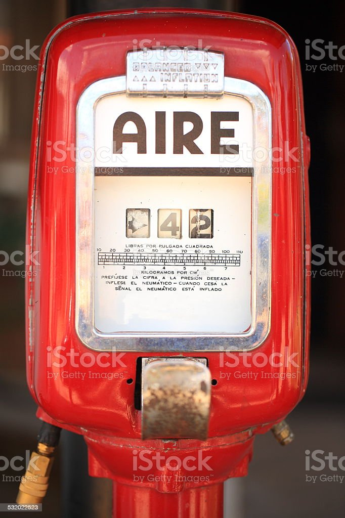 Old Air Pump stock photo