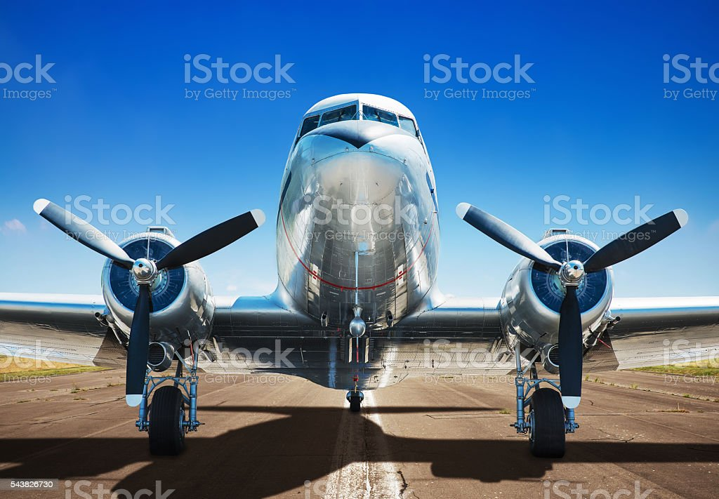 old airplane stock photo