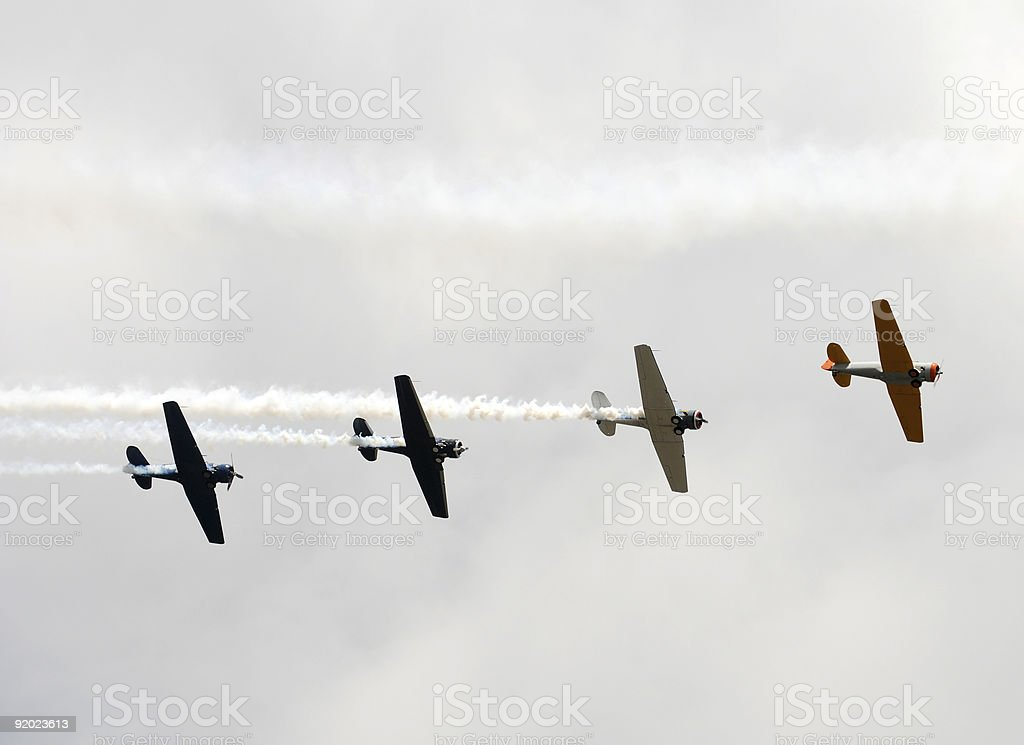 Old airplanes royalty-free stock photo