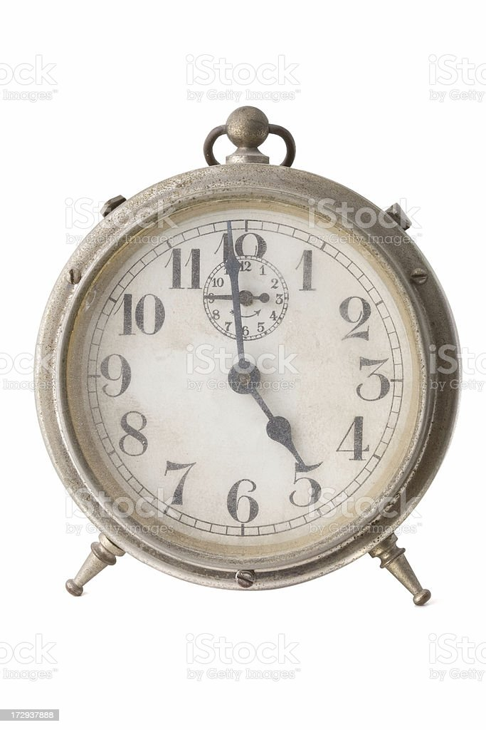 Old alarm clock royalty-free stock photo