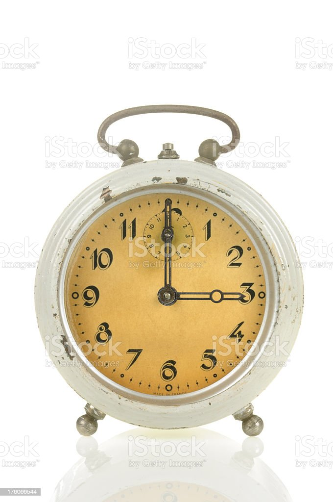 15 00 Old Alarm Clock stock photo