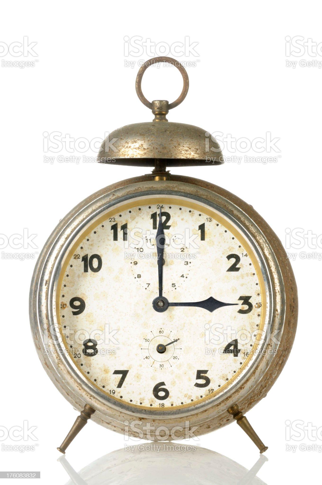 15 00 Old Alarm Clock royalty-free stock photo