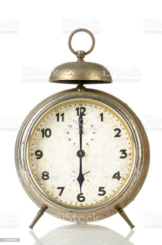 18 00 Old Alarm Clock stock photo