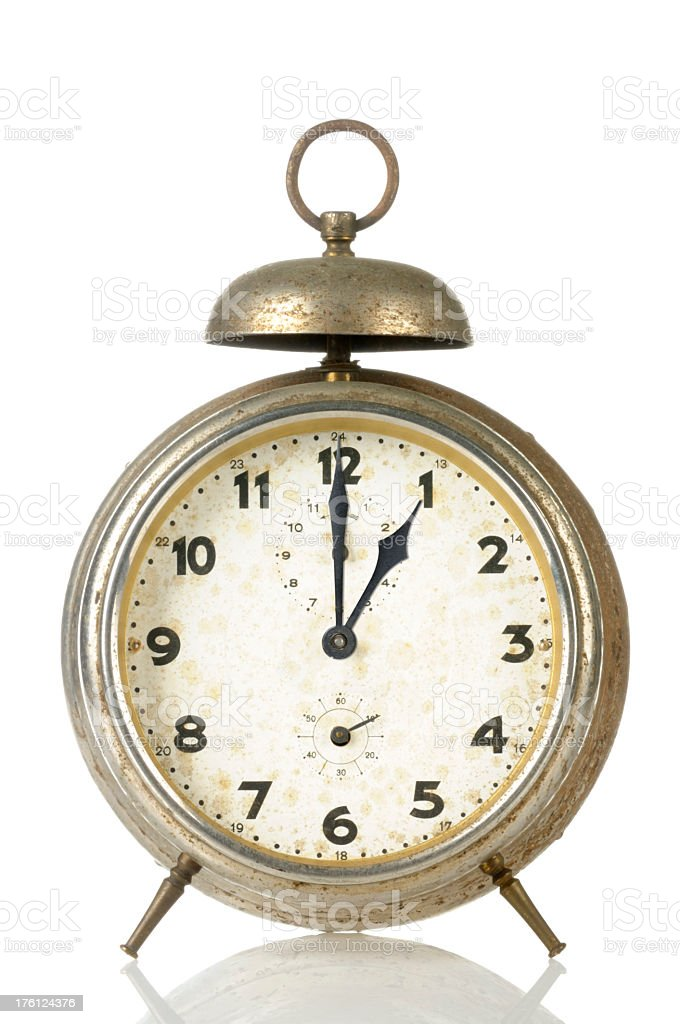 13 00 Old Alarm Clock royalty-free stock photo