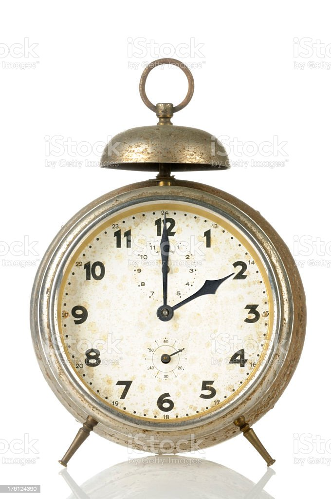 14 00 Old Alarm Clock stock photo