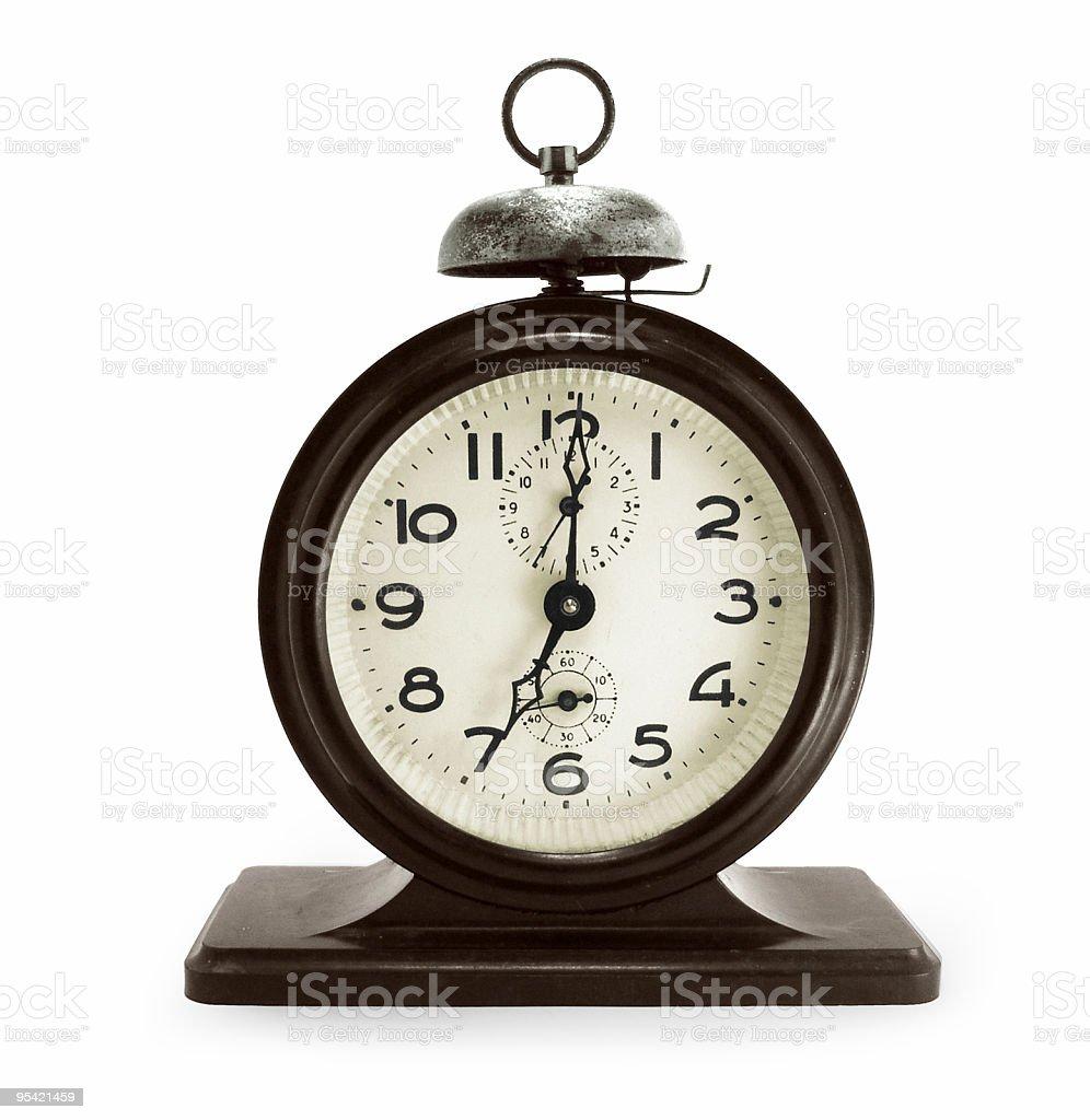 Old alarm clock royalty-free stock photo