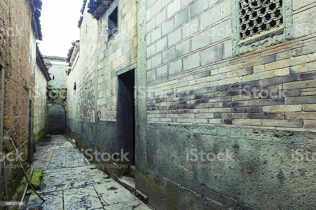Old Alley in China stock photo