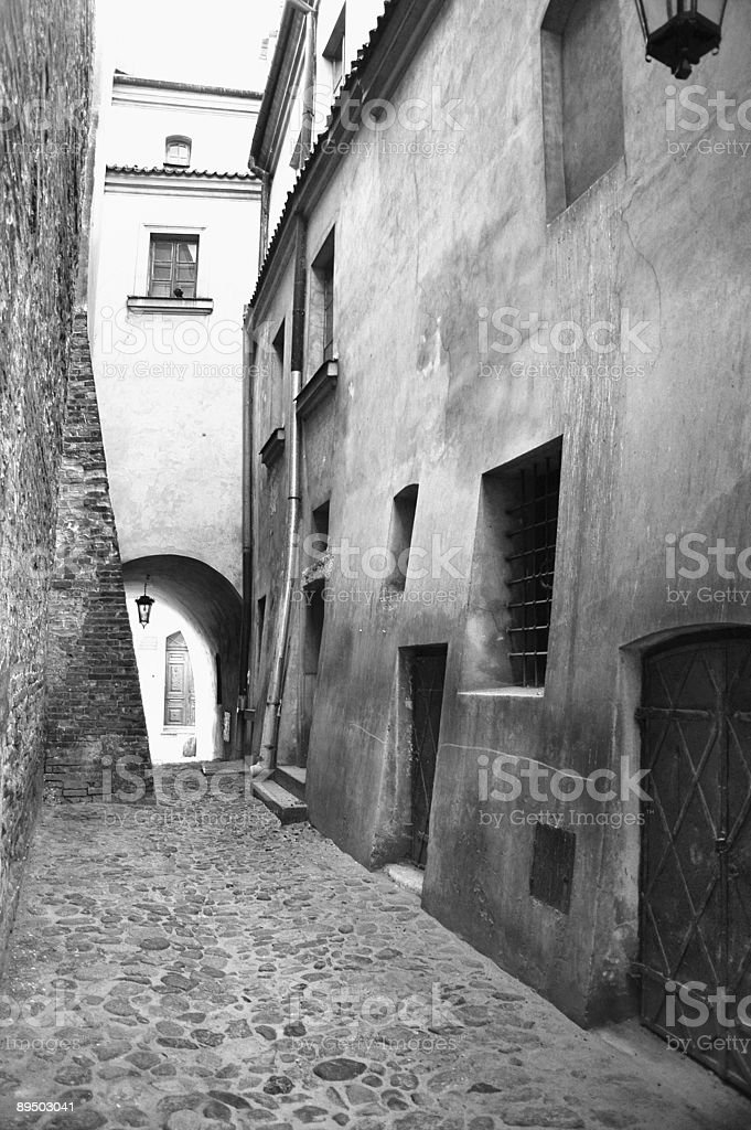 Old alley stock photo